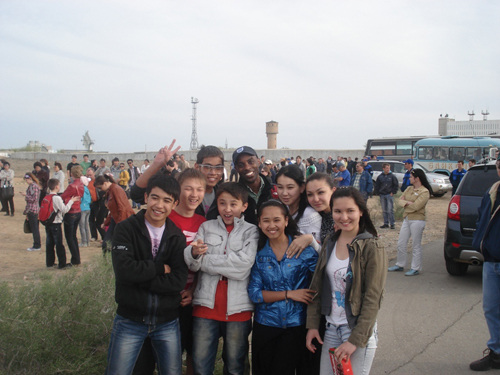 Customer and Baikonur School Kids