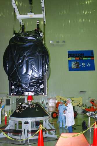 SES-3 Satellite Mechanical Fitcheck