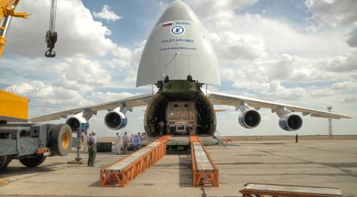 SES-3 Satellite Arrival