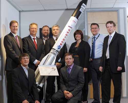 SES Isle of Man ILS Proton rocket model presentation
