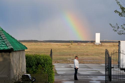 Rainbow in Baikonur